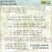 Graduation Scrap.Words