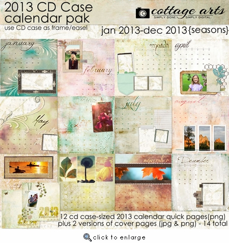 2013 CD Case Calendar - Seasons