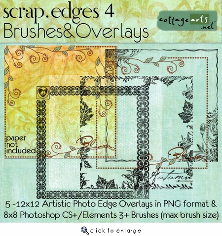Scrap.Edges4 Brushes & Overlays (12x12)