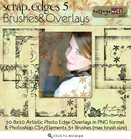 Scrap.Edges5 Brushes & Overlays (8x10)