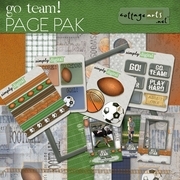 Go Team! Page Pak w/Sports Card ScrapOvers