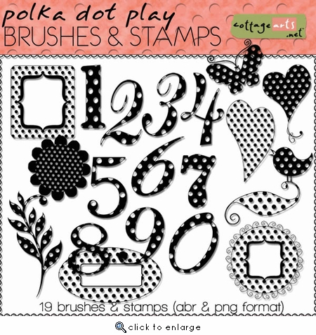 Polka Dot Play Brushes & Stamps