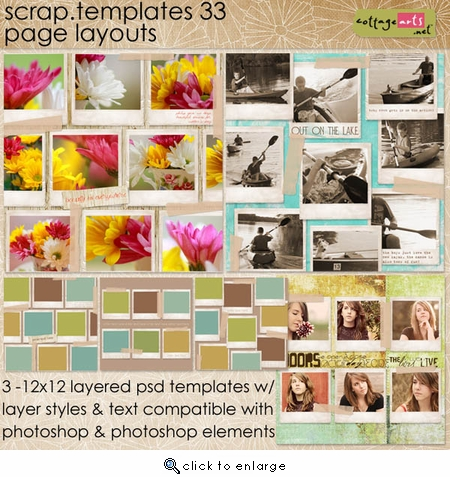 Scrap Templates - Page Layouts 33