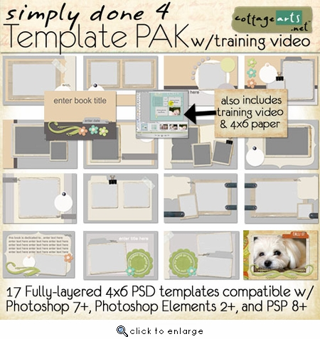 Simply Done 4 Template Pak & Training Video (PS,PSE,PSP)