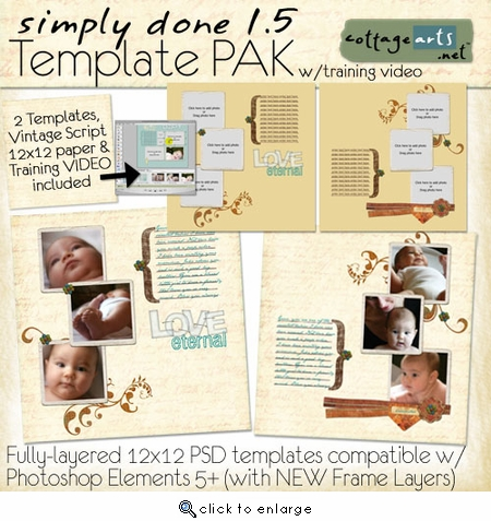 Simply Done 1.5 Templates & Training Video (PSE 5, 6, 7)