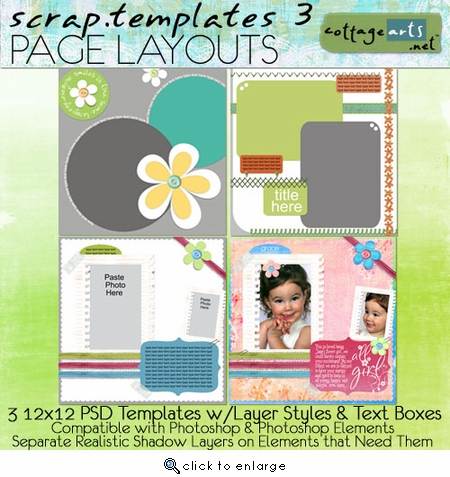 Scrap Templates 3 - Page Layouts