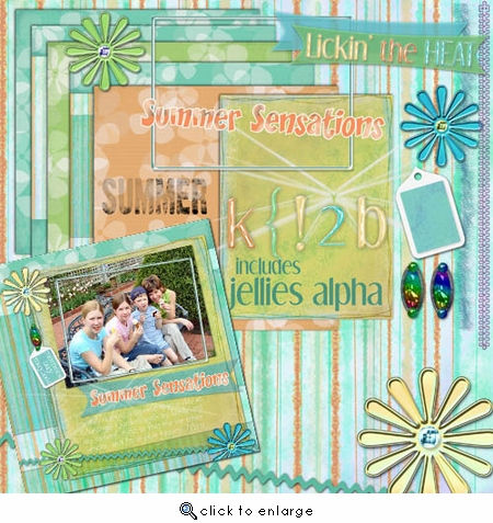 Summer Sensations Page Pak & Jellies AlphaSet