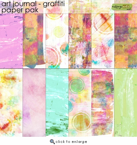 Art Journal - Graffiti Paper Pak