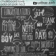 Chalkboard Love Add-On 2 Pak