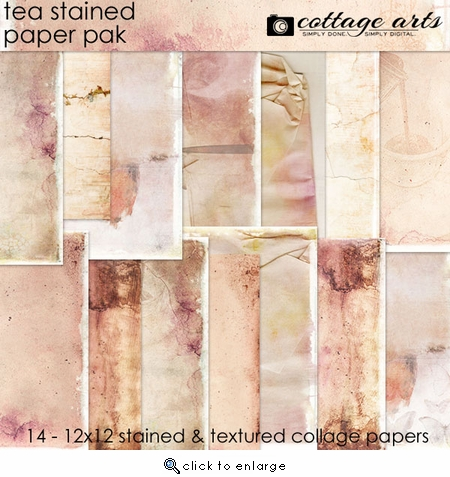 Tea Stained Paper Pak