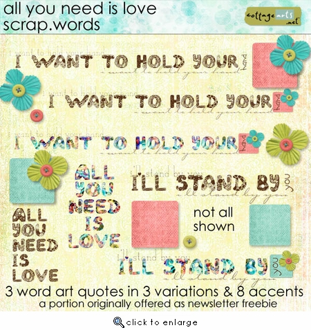 All You Need is Love Scrap.Words