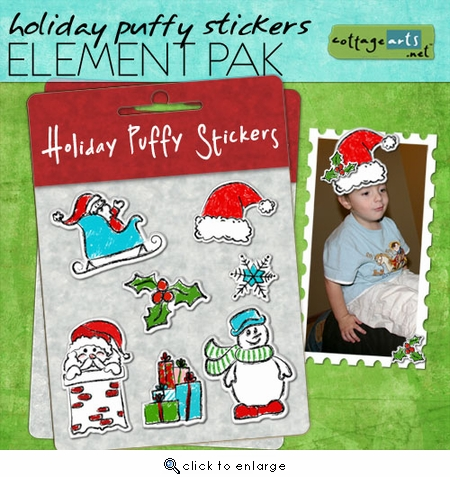 Holiday Puffy Stickers