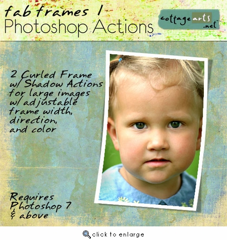 Fab Frames 1 Photoshop Action Set