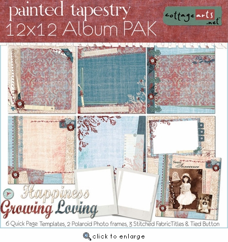 Painted Tapestry 12x12 Album Pak