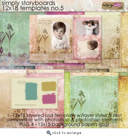 Simply Storyboards 5 - 12x18 Templates