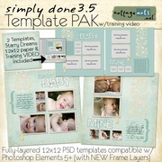 Simply Done 3.5 Templates & Training Video (PSE 5, 6, 7)