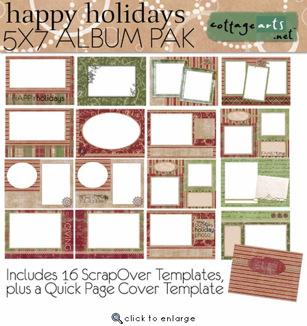 Happy Holidays 5x7 ScrapOver Album