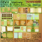 Life's Journey 12x12 Album Pak - Shutterfly Ready