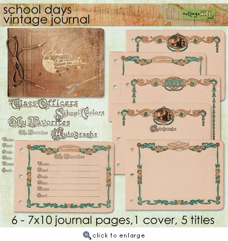School Days Vintage Journal Pak