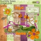 Bumbly Bees Page Pak w/Alpha