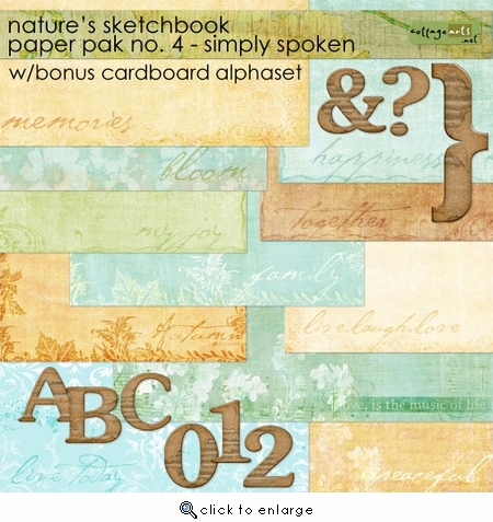 Nature's Sketchbook Paper Pak 4 - Simply Spoken