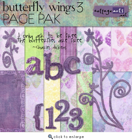 Butterfly Wings 3 Pak w/AlphaSet