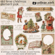 Old Time Christmas Element Pak