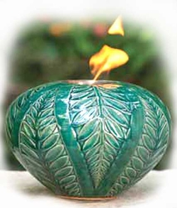 ARANI FIREPOT MEDIUM FERN TURQUOISE by BirdBrain