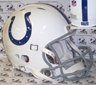 Indianapolis Colts w/Peyton Manning Style Face Mask Riddell Authentic Revolution NFL Full Size On Field Football Helmet