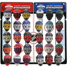 NHL Micro Goalie Mask Standings Tracker Set 30 piece with Display Board