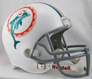 Miami Dolphins 1972 Throwback Riddell NFL Full Size Deluxe Replica Football Helmet