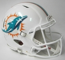 Miami Dolphins Riddell Authentic Revolution Speed NFL Full Size On Field Football Helmet
