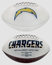 San Diego Chargers Logo Full Size Signature Series Football