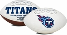 Tennessee Titans Logo Full Size Signature Series Football