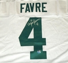 Brett Favre - Autographed Green Bay Packers , White Reebok Official Jersey