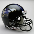 Baltimore Ravens Autographed Full Size On Field Authentic Proline Helmets