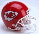 Kansas City Chiefs Autographed Full Size On Field Authentic Proline Helmets