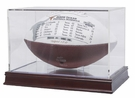 Football Qube with Wood Base and UV Protection