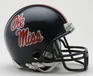 Mississippi (Ole Miss) Rebels Autographed Mini Helmets