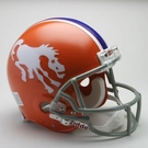 Denver Broncos 1966 Throwback Riddell Authentic NFL Full Size On Field Proline Football Helmet