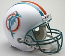 Miami Dolphins 1980-1996 Throwback Riddell Authentic NFL Full Size On Field Proline Football Helmet