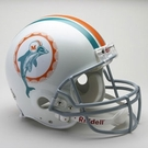 Miami Dolphins 1972 Throwback Riddell Authentic NFL Full Size On Field Proline Football Helmet