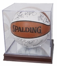 Basketball Qube with Wood Base and UV Protection