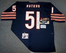 Dick Butkus - Autographed Chicago Bears Navy Reebok Official Jersey