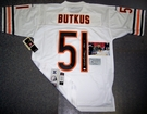 Dick Butkus - Autographed Chicago Bears White Reebok Official Jersey