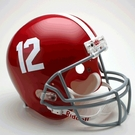 Alabama Crimson Tide Autographed Full Size Riddell Deluxe Replica Football Helmets