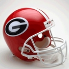Georgia Bulldogs Autographed Full Size Riddell Deluxe Replica Football Helmets