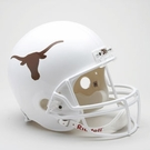 Texas Longhorns Autographed Full Size Riddell Deluxe Replica Football Helmets