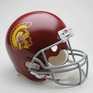 USC Trojans Autographed Full Size Riddell Deluxe Replica Football Helmets