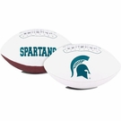 Michigan State Spartans Logo Full Size Signature Series Football
